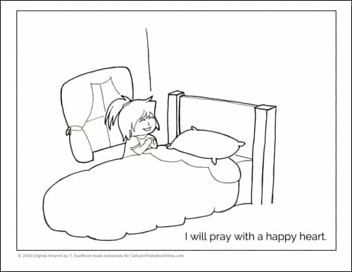 Little Girl Praying Coloring Page