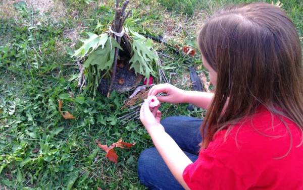 How to Build a Teepee Style Fairy House
