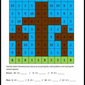 Find a Picture Easter Math Activity Printable