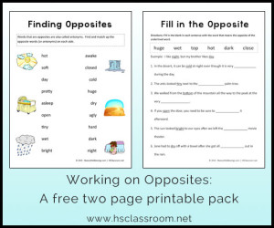 My Little Book Of Opposites Free Printable
