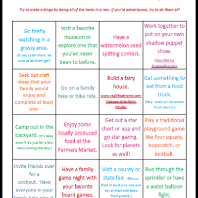 Summer Fun Activities Printable