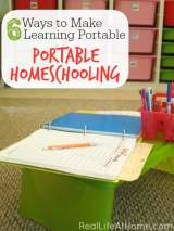 6 Ways to Make Learning Portable: Portable Homeschooling