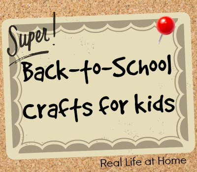 Back to School Crafts for Kids