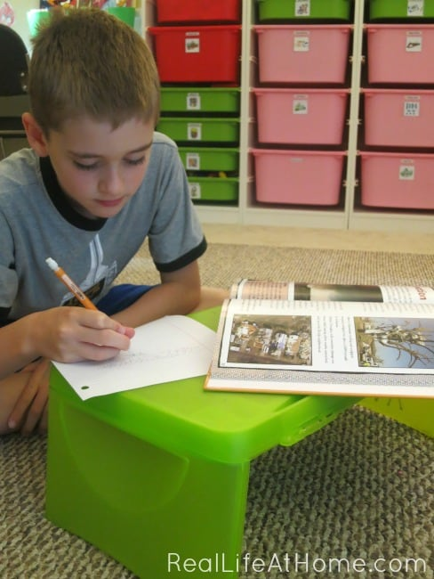 lap desks and clipboards make learning portable