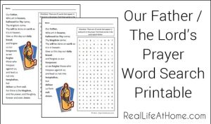 Lord's Prayer / Our Father Word Search Printable