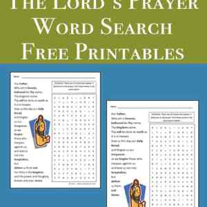 The Lord's Prayer / Our Father Word Search Printable available in two wording versions   Real Life at Home
