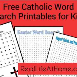 Word Search Printables for Catholic Kids {Free!} | RealLifeAtHome.com