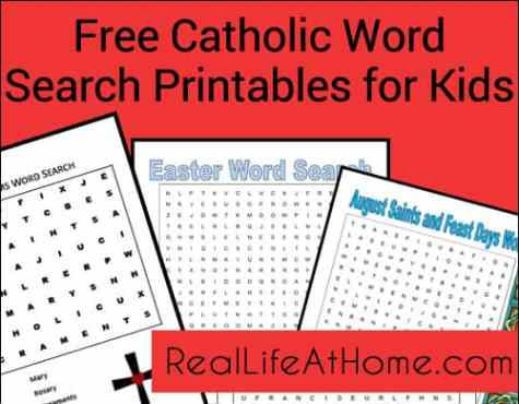Word Search Printables for Catholic Kids {Free!} | Real Life at Home