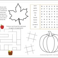 Fall Activity Page Printable