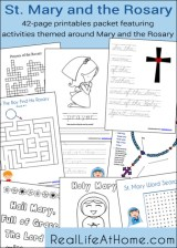 Mary and the Rosary Printables and Worksheet Packet