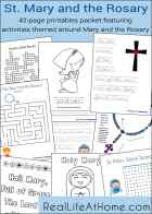 Saint Mary and the Rosary Printables and Worksheet Packet