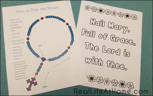 Mary and Rosary Themed Printables Packet (Sample Pages)