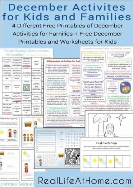 10 Activities For Catholic Families In December Printable on 10 Activities For Catholic Families In November Printable