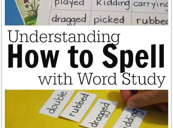 Understanding How to Spell with Word Study