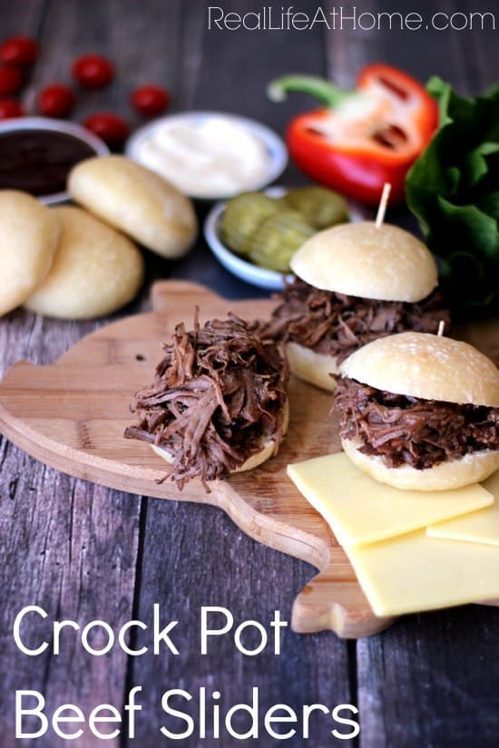 Tender and Delicious Crock Pot Beef Sliders  |  RealLifeAtHome.com