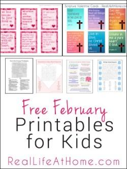 Free February Printable for Kids   RealLifeAtHome.com