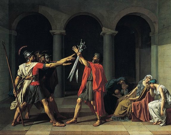 Haikus about Art - Jacques-Louis David - Oath of the Horatii