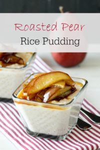Roasted Pear Rice Pudding - decadently delicious