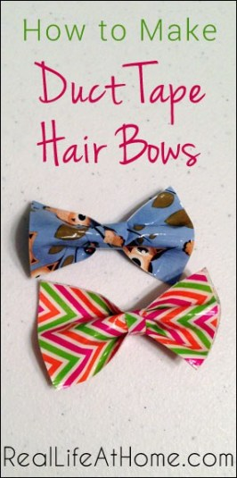 How to Make Duct Tape Hair Bows   RealLifeAtHome.com