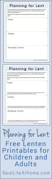 Planning for Lent: A Set of Pages for Planning to Make This Lent a More Prayerful and Meaningful Season