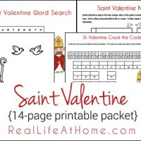 Saint Valentine 14-page Worksheets and Printable Activity Packet