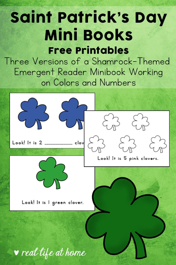 photo relating to Printable Shamrock known as St. Patricks Working day Mini Publications - Free of charge Printable Emergent Site visitors