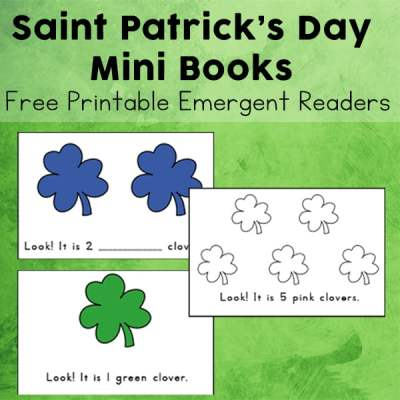 Working with beginning readers? This free printable set of St. Patrick's Day Mini Books are perfect printable emergent readers to tackle for the holiday. The three versions of these shamrock mini books work on colors and numbers with beginning readers.