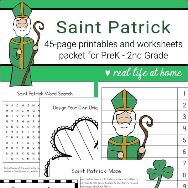 Saint Patrick Printables and Worksheet Packet