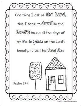 Psalm 27:4 Coloring Page from the free Bible Verses Coloring Page Set on Real Life at Home