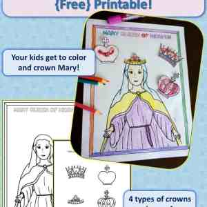 Mary, Queen of Heaven Free Printable