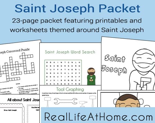 Saint Joseph Printables and Worksheet Packet