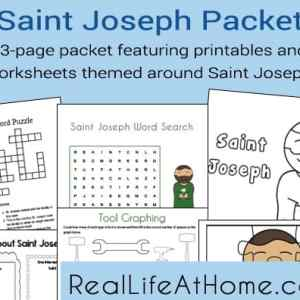 23 page packet featuring printables and worksheets themed around Saint Joseph   RealLifeAtHome.com