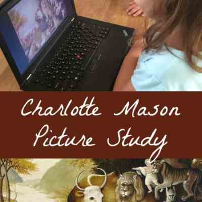 Charlotte Mason Picture Study - An easy way to incorporate art appreciation in your homeschool!