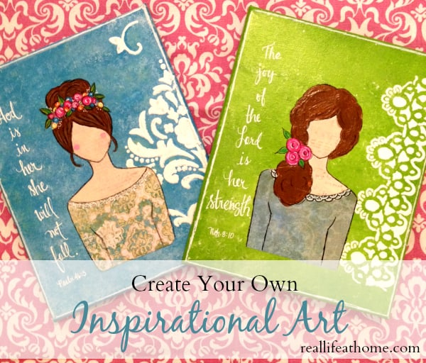 create your own beautiful inspirational art with this step-by-step tutorial (which includes a body template)  RealLifeAtHome.com