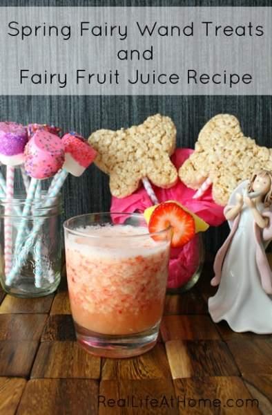 Fairy Wand Treats Options Plus a Recipe for Some Fun, Vitamin C Packed Fairy Fruit Juice | RealLifeAtHome.com