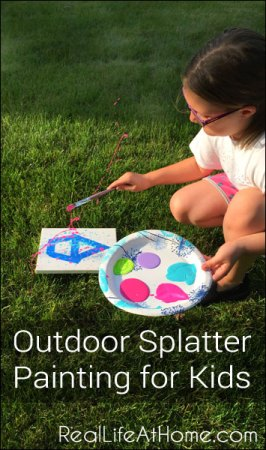 Fun and Easy Outdoor Splatter Painting Activity for Kids