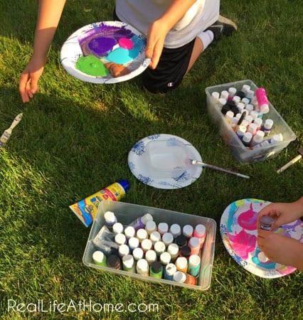 Splatter Painting Activity for Kids
