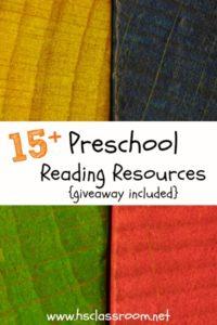 15+ Preschool Reading Resources