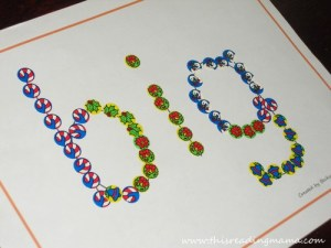 Fine Motor Skill Fun with Sight Words