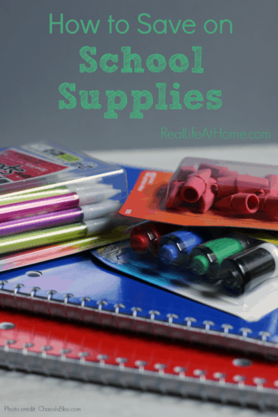 Easy tips on how to save on school supplies.