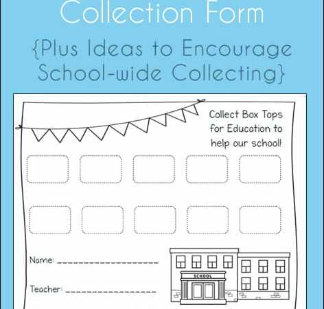 Low and No Cost Incentive Ideas for Collecting Box Tops for Education {Plus a Free Printable Collection Form}