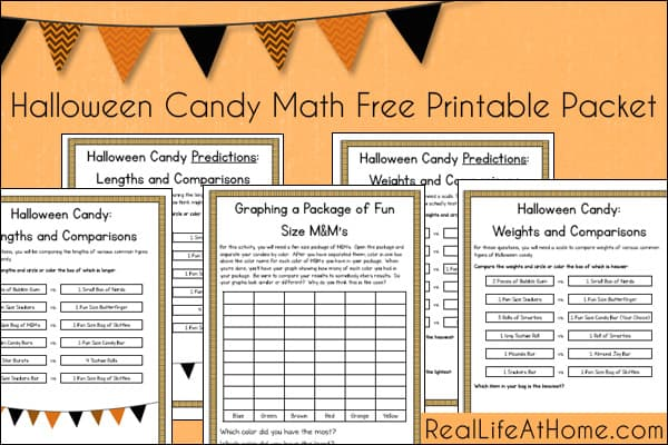 Halloween Candy Math Free Printable Packet