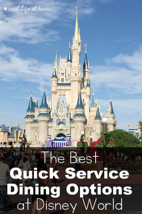 Best disney quick service options