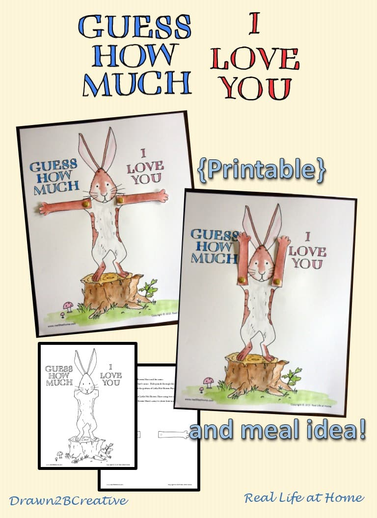 Guess How Much I Love You Printable