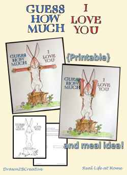 Guess How Much I Love You Printable Craft and Meal Idea