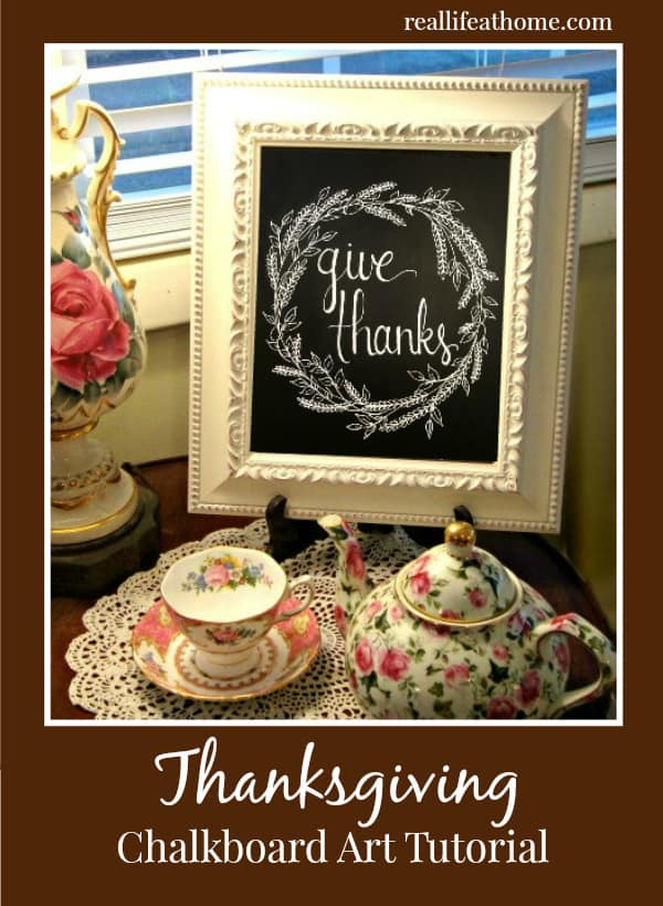 Thanksgiving Chalkboard Art Tutorial with Step-by-step Directions