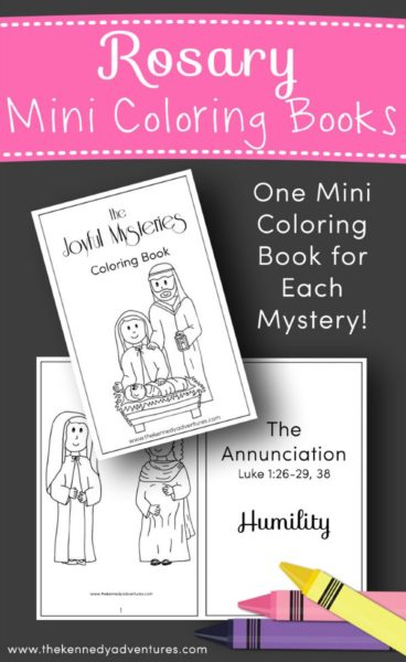 Rosary Mini Coloring Books