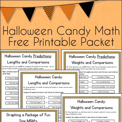 Halloween Candy Math Free Printable Learning Packet