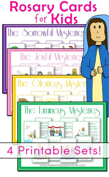photo about How to Pray the Rosary for Kids Printable called Straightforward Recommendations for Praying the Rosary with Little ones