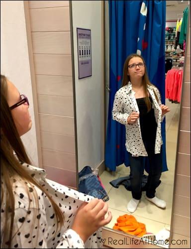shopping at Justice